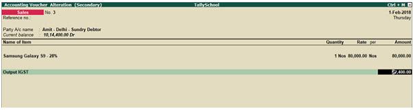How to create E Bills in Tally srinshot 1